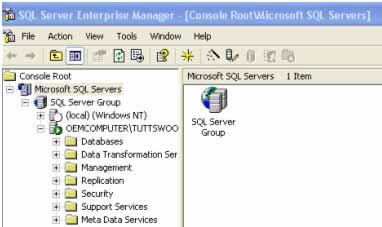 SQL Server Enterprise Manager (Client)