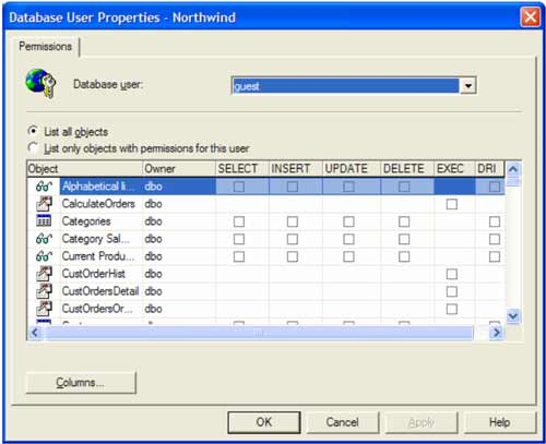 Adding users in SQL Server 7