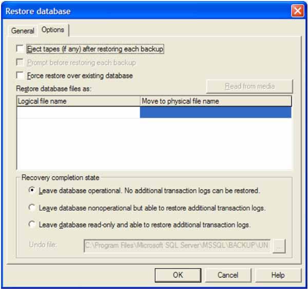 SQL Server Restore Database
